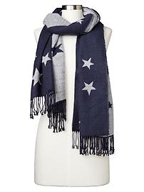 Cozy star scarf - blue uniform